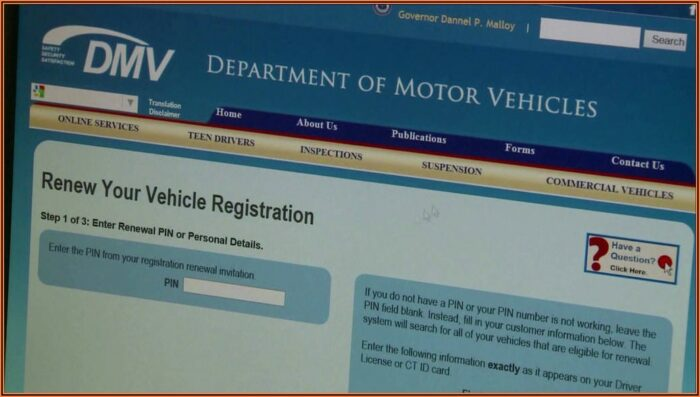 California Dmv Registration Renewal Form
