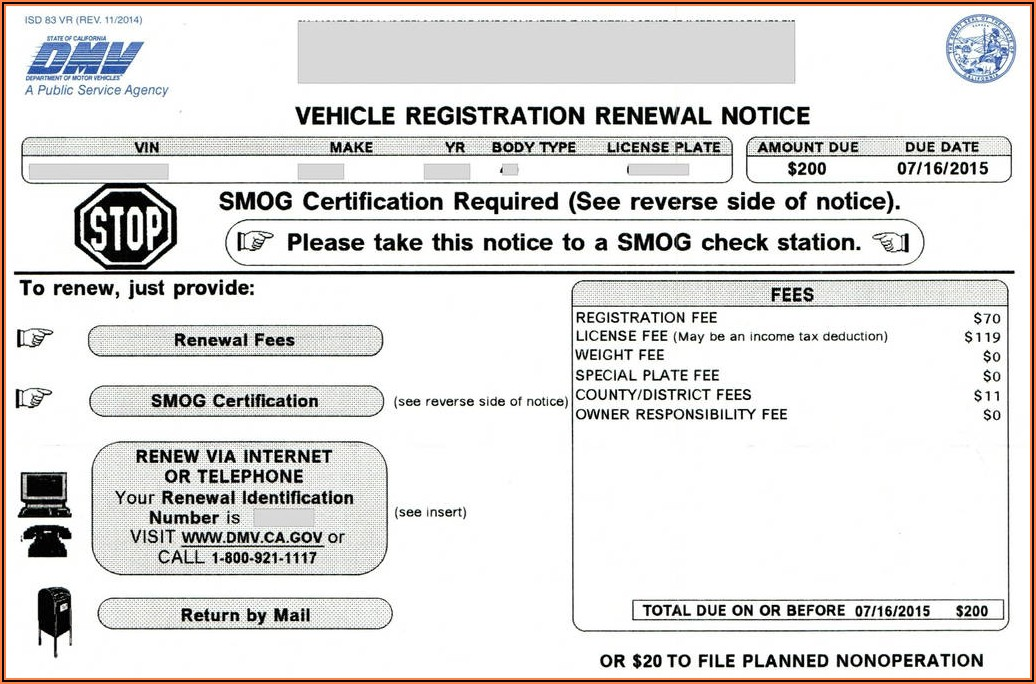 California Dmv Vehicle Registration Form