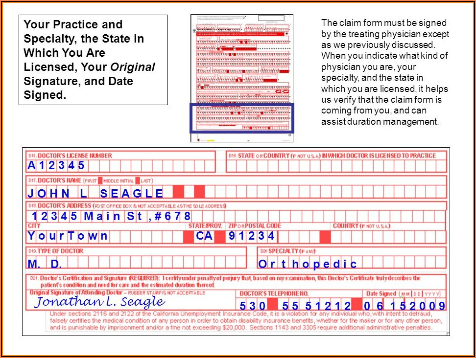 California Fmla Disability Forms