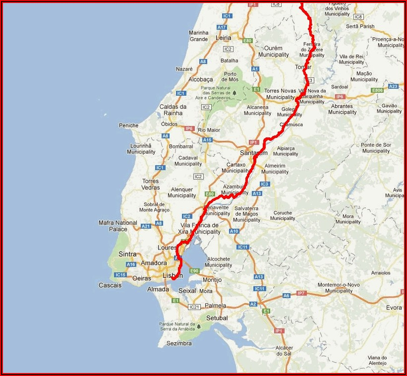 Camino Portuguese Maps Mapas Karten Lisboa Porto Santiago