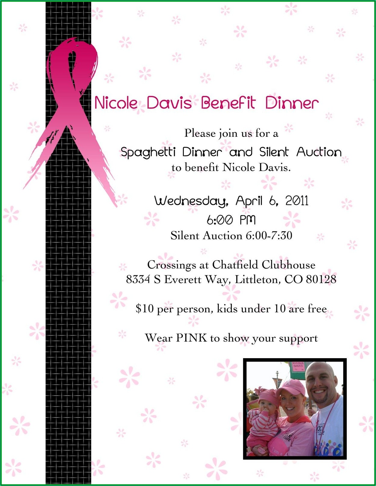 Cancer Benefit Ticket Template