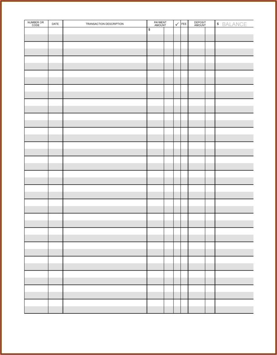 Checkbook Balance Form
