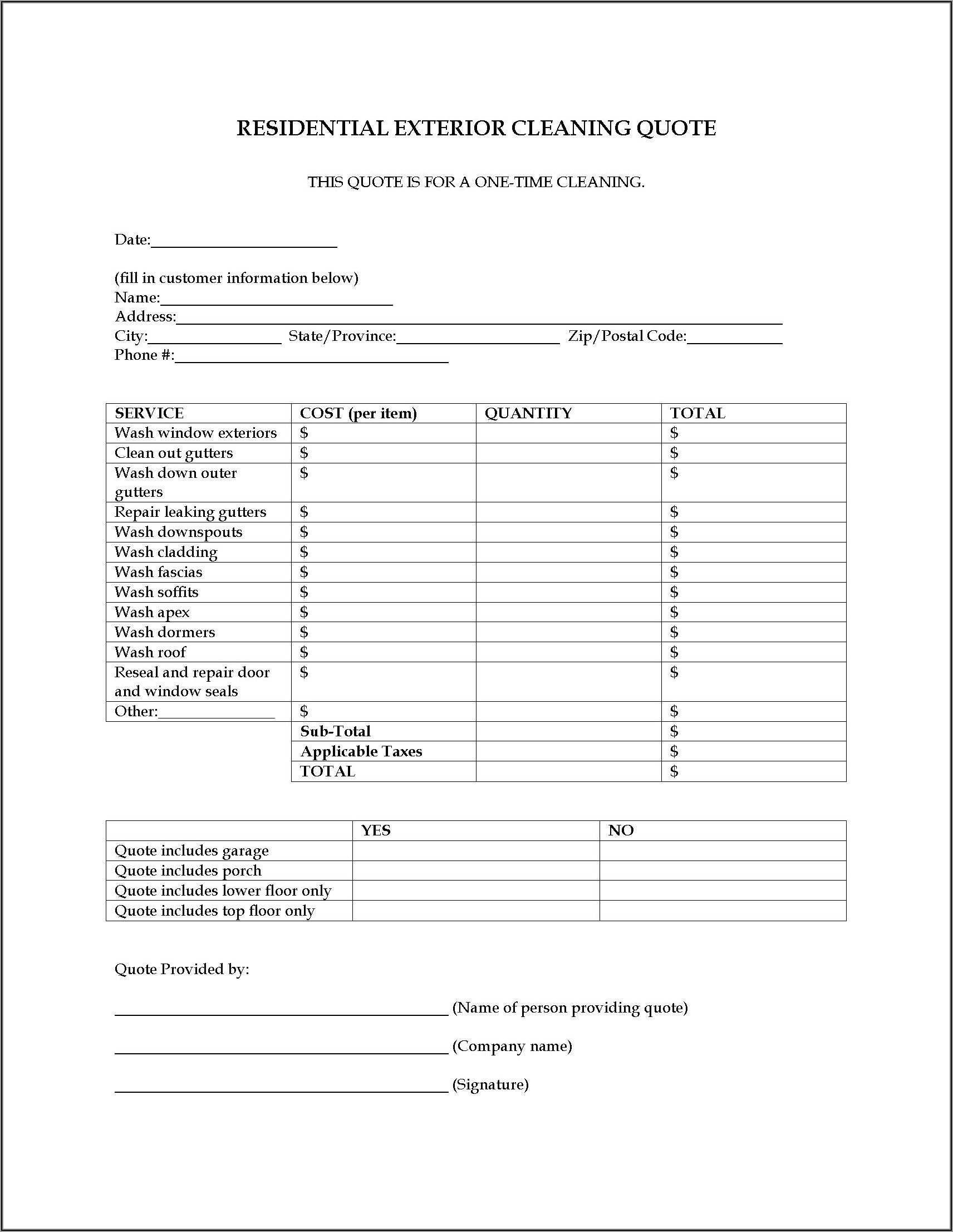 Cleaning Business Forms Templates