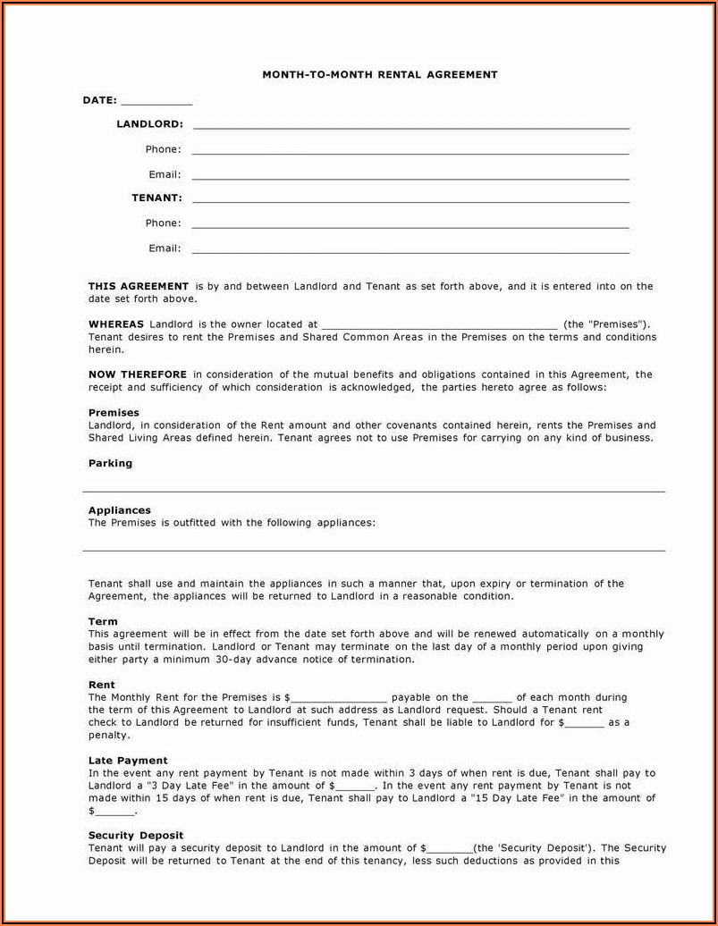 Colorado Residential Lease Form