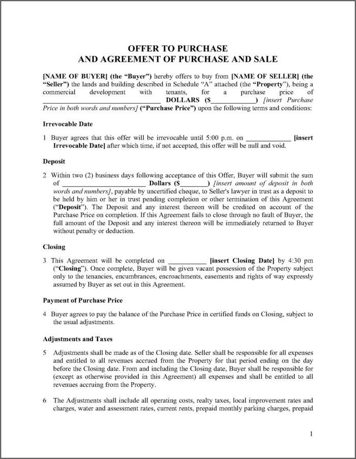 Commercial Real Estate Purchase Agreement Form Michigan