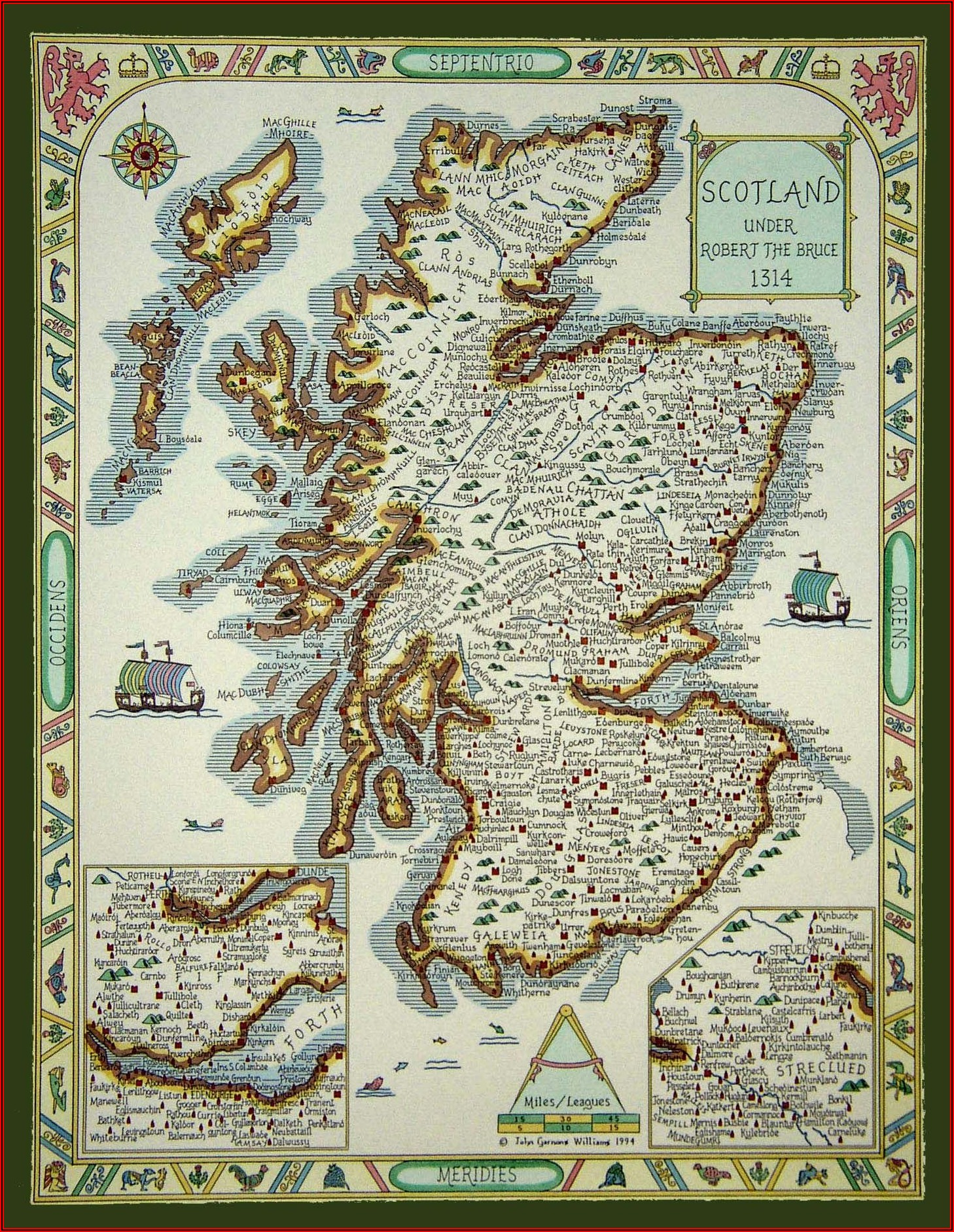 Davidson Clan Scotland Map