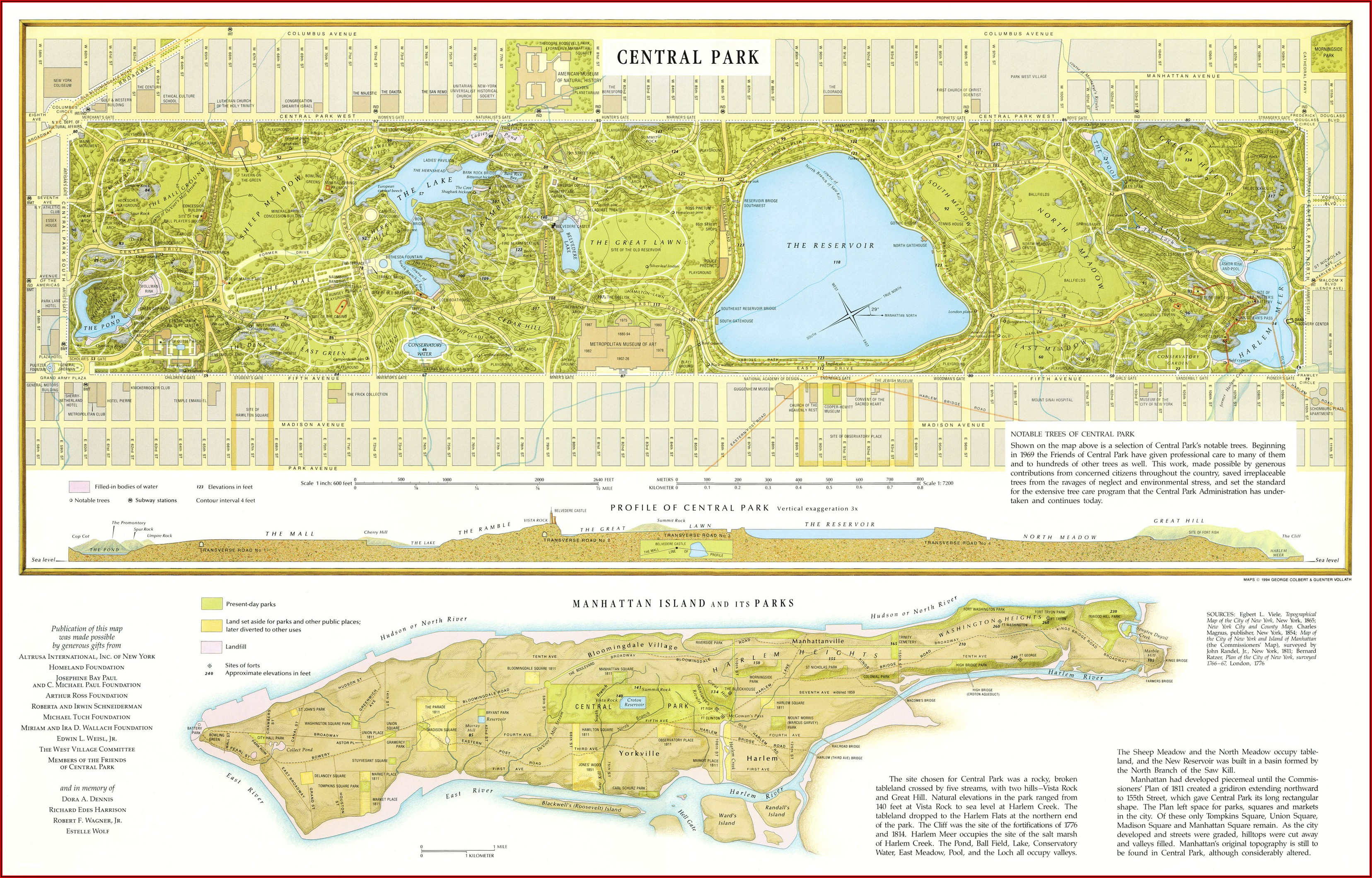 Detailed Map Of Central Park Nyc