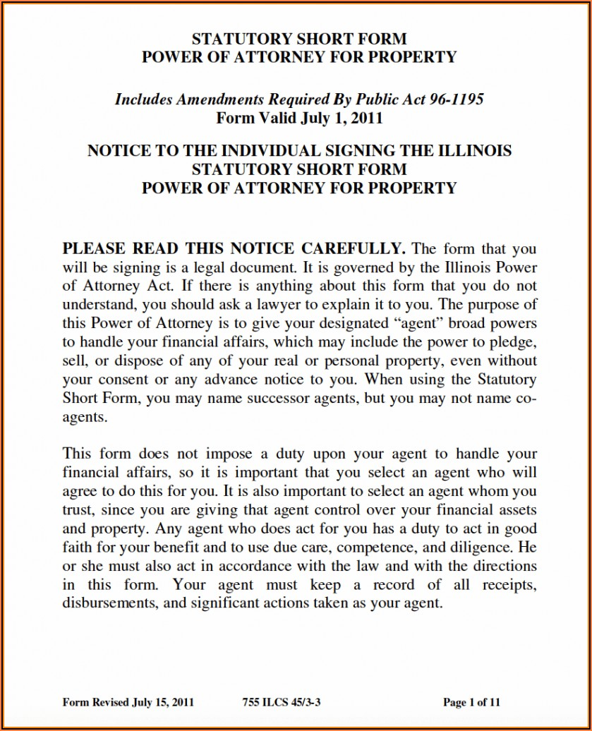 Durable Medical Power Of Attorney Form Illinois