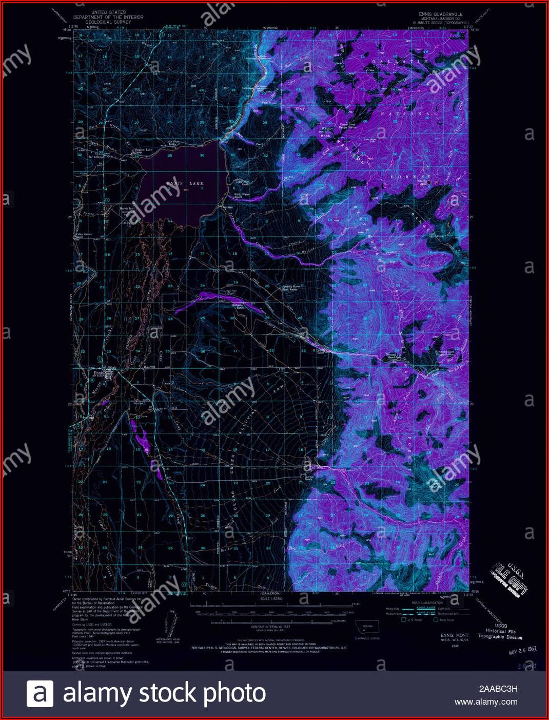 Ennis Montana Topo Map