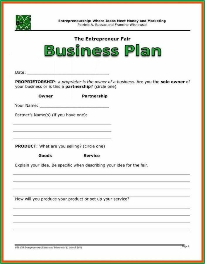 Farming Business Plan Template Pdf