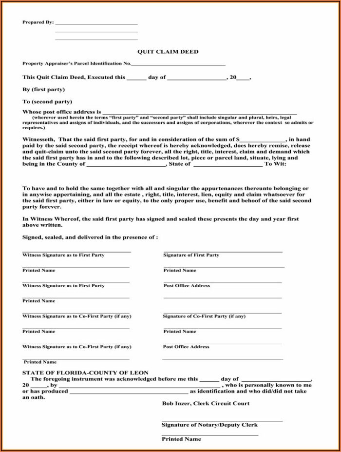 Florida Deed Transfer Forms