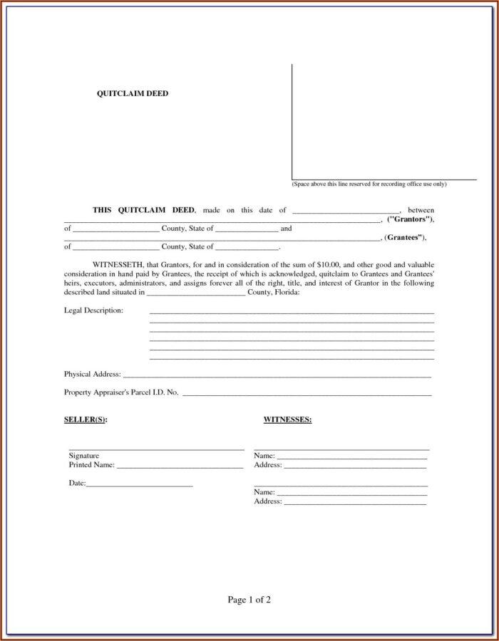 Florida Warranty Deed Form Pdf