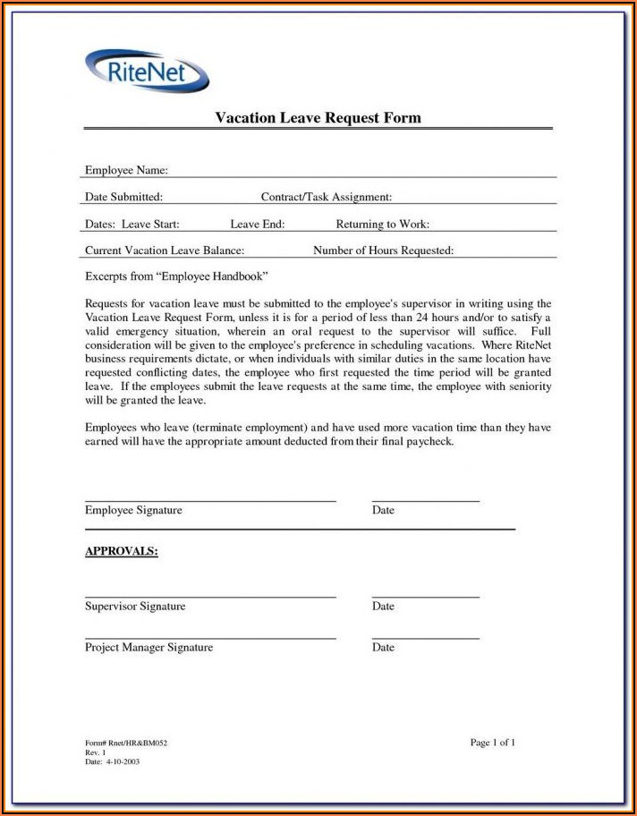 Fmla Leave Forms California