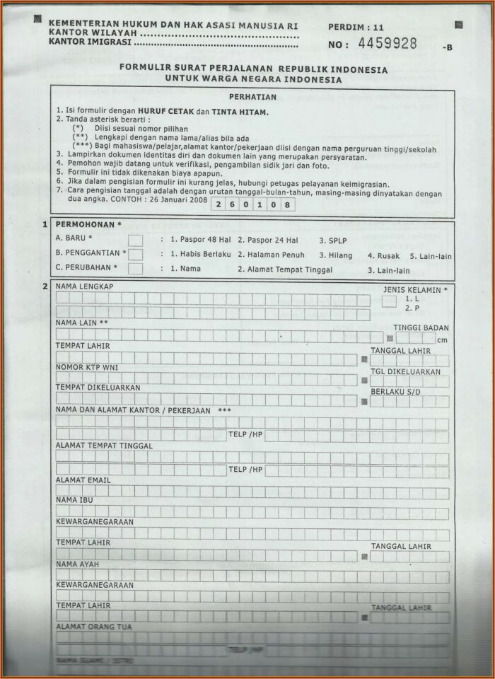 Form For Renewing Passport By Mail