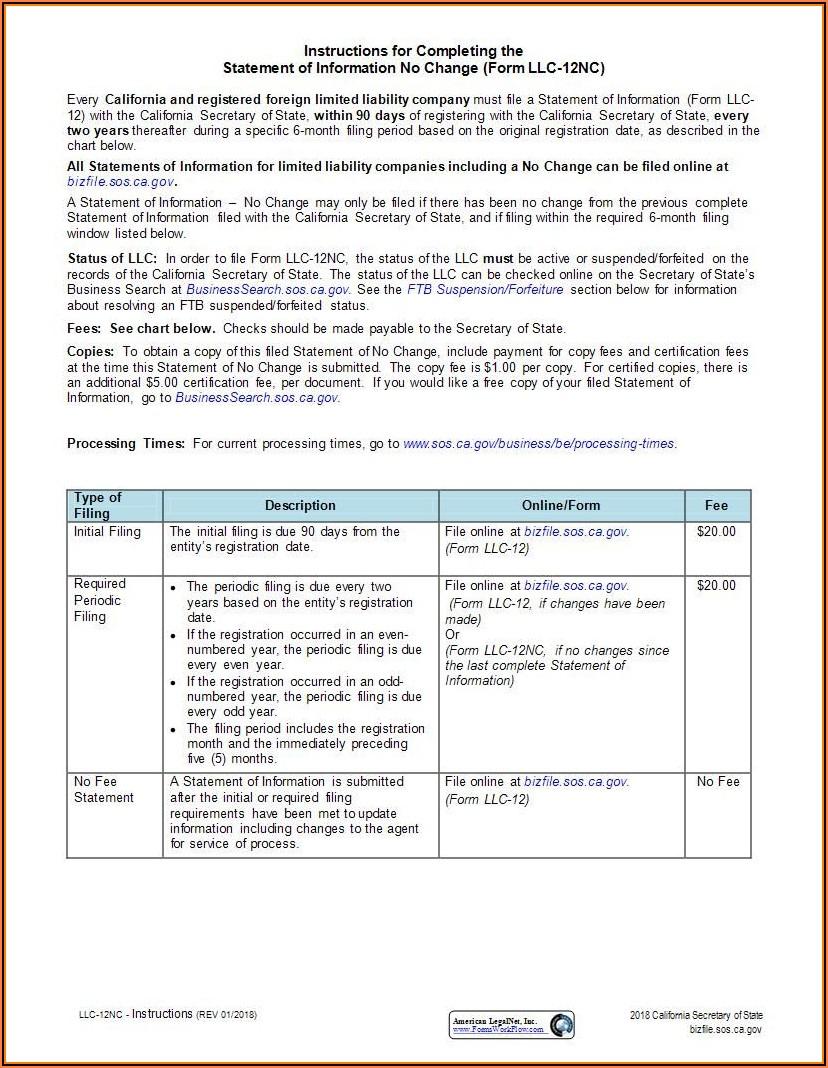 Form Llc 12 Online