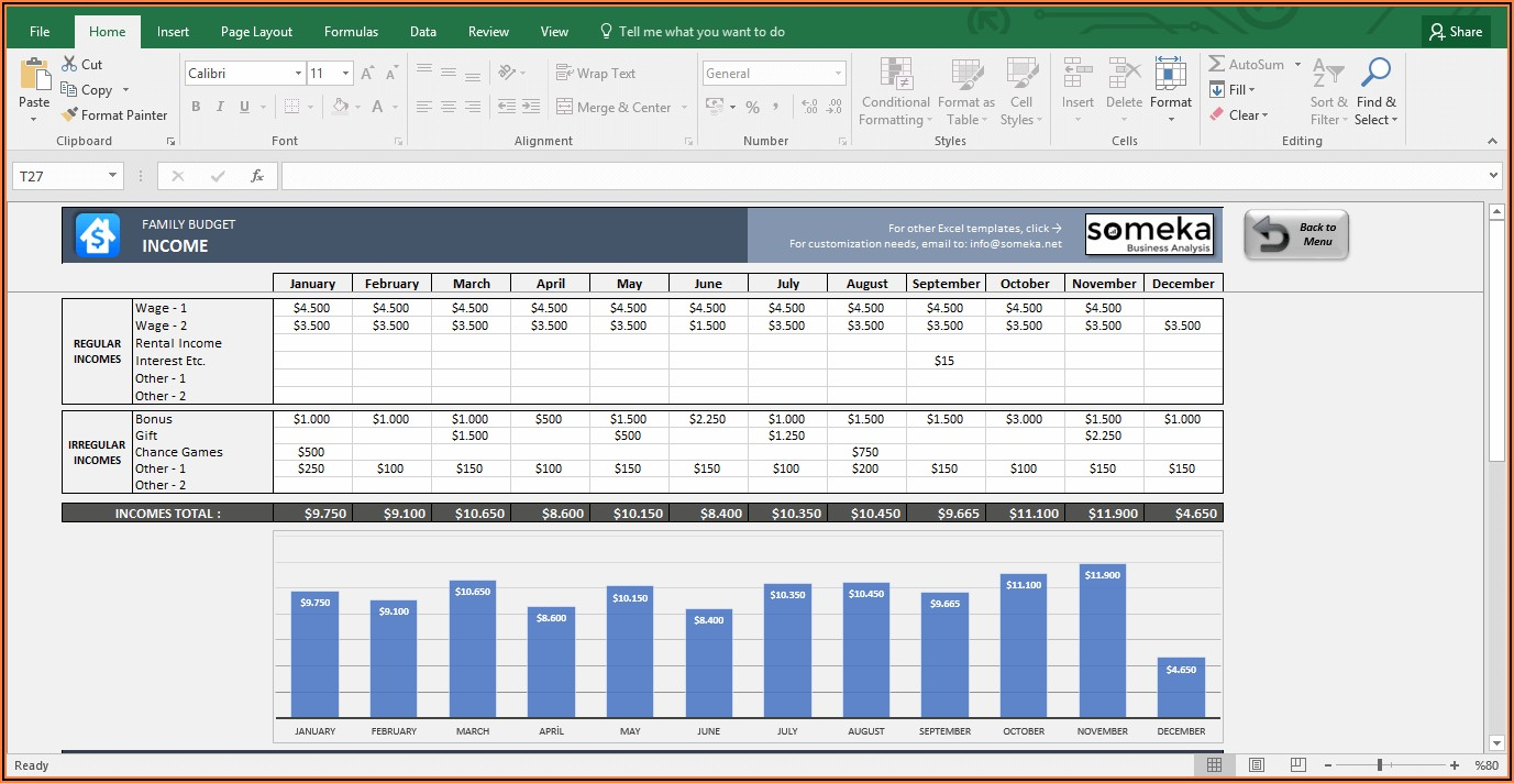 Free Excel Household Budget Template