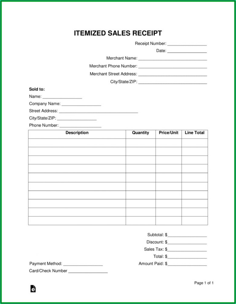 Free Fillable Invoice Template Word
