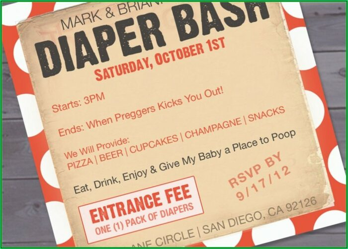 Free Printable Diaper Party Invitation Templates