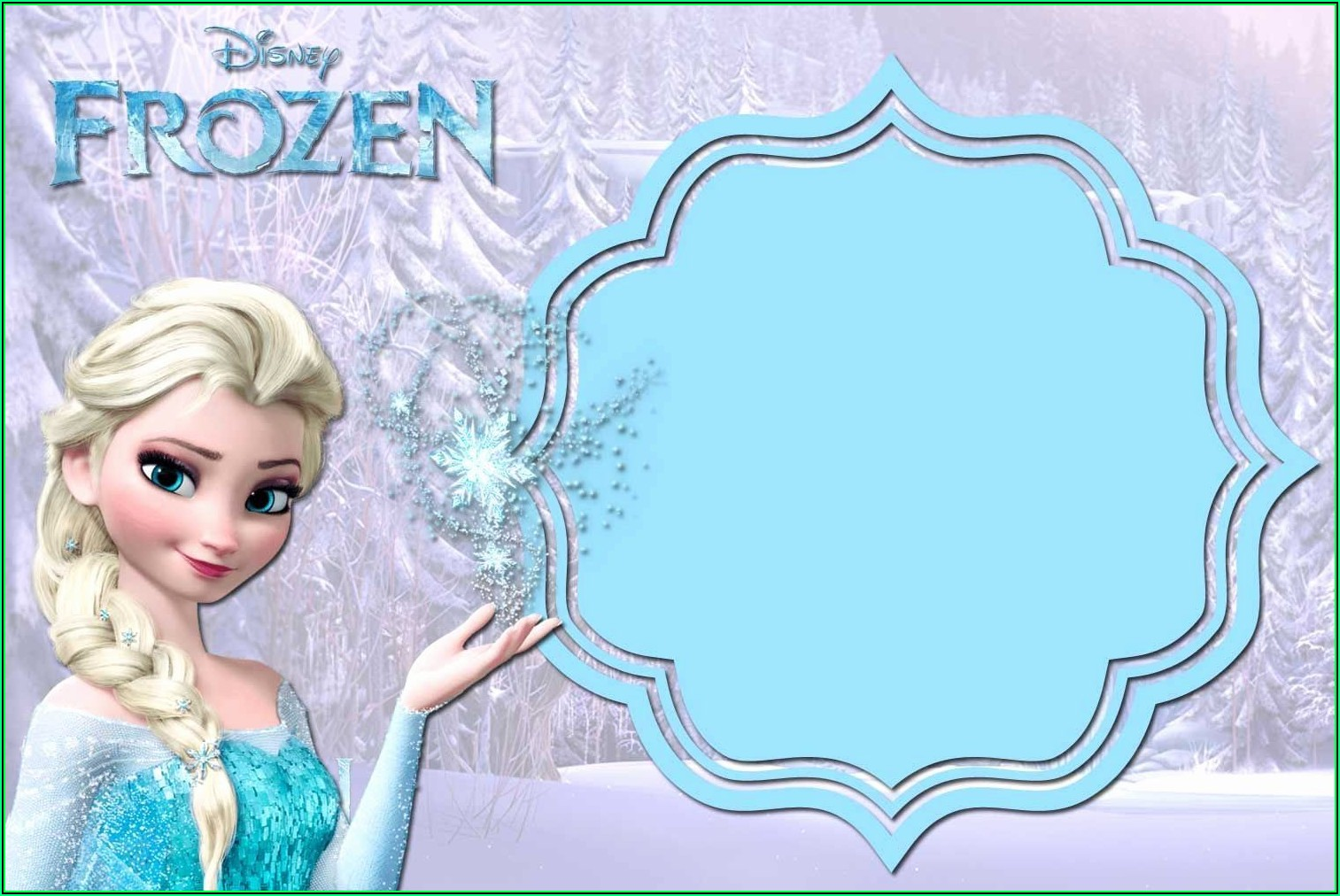 Frozen Birthday Invite Template Free