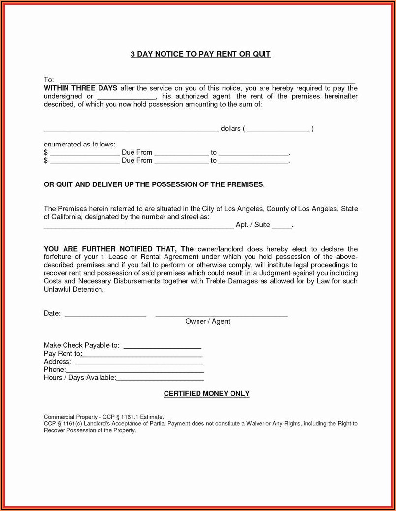 Ga Eviction Notice Form