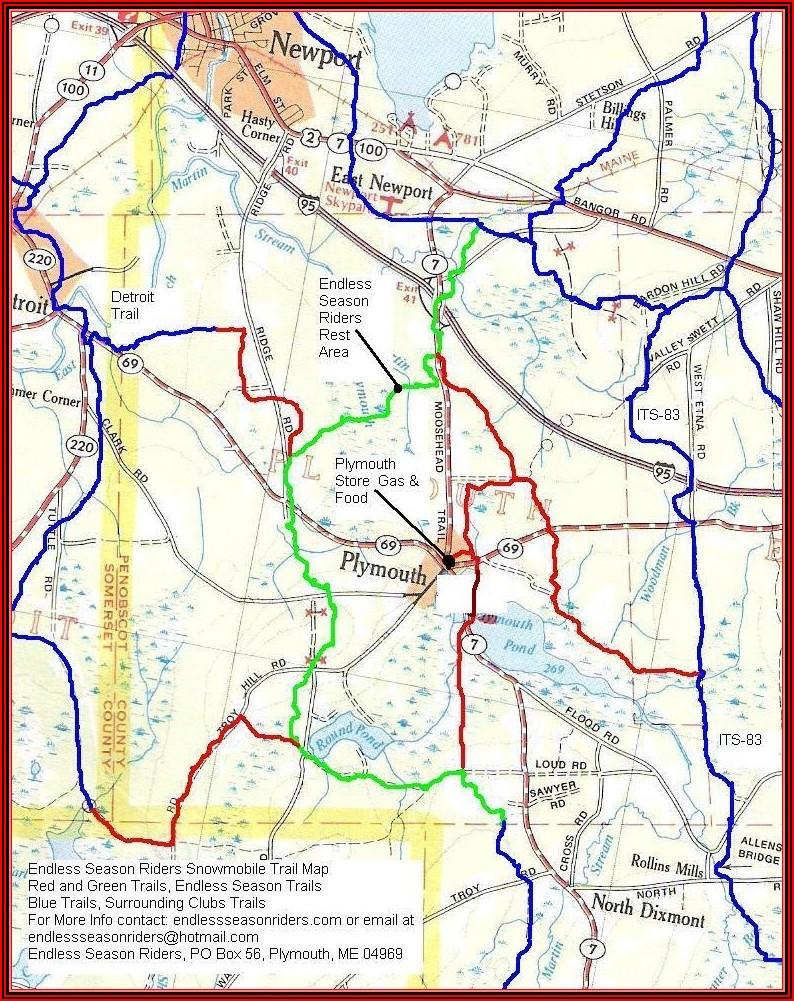 Garmin Snowmobile Maps Maine
