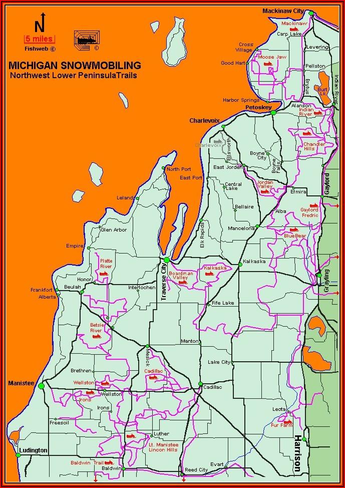 Garmin Snowmobile Maps Michigan