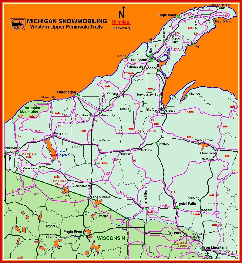Garmin Snowmobile Trail Maps Michigan