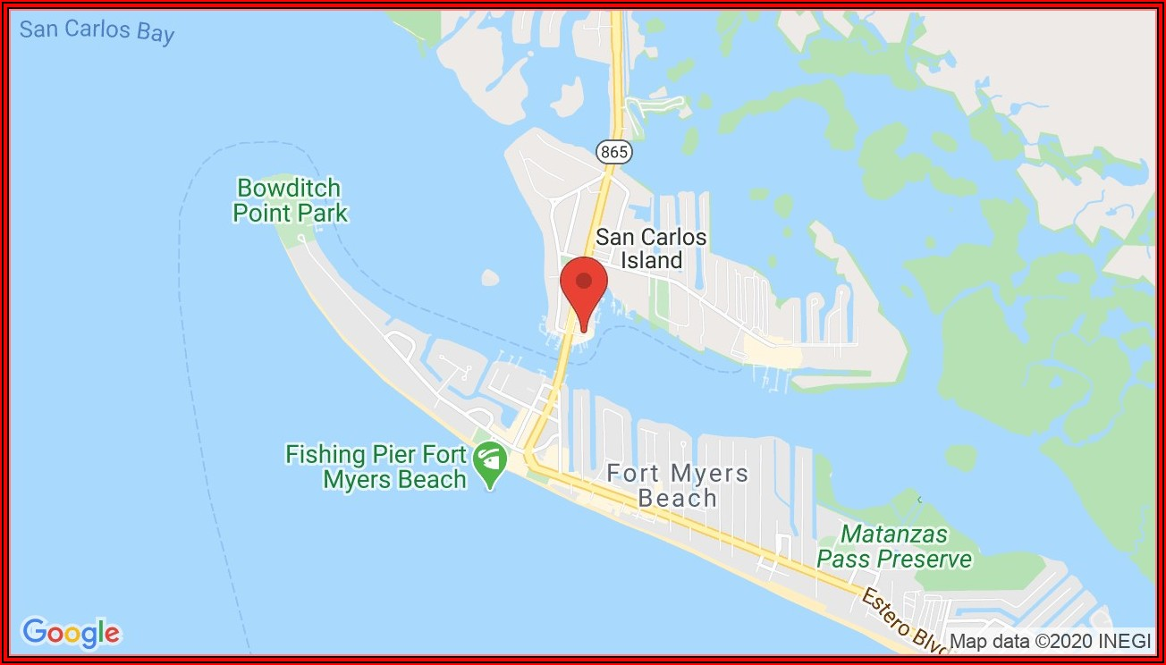 Google Map Fort Myers Beach Fl