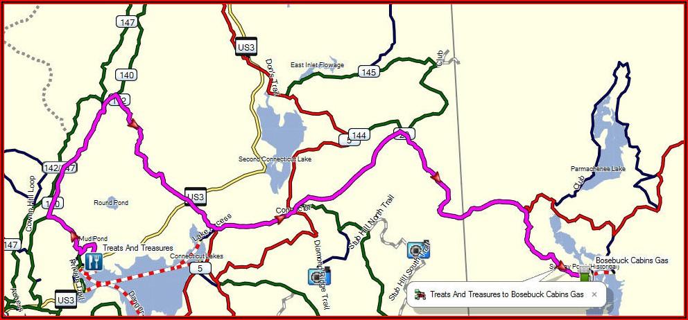 Gps Snowmobile Trail Maps Maine