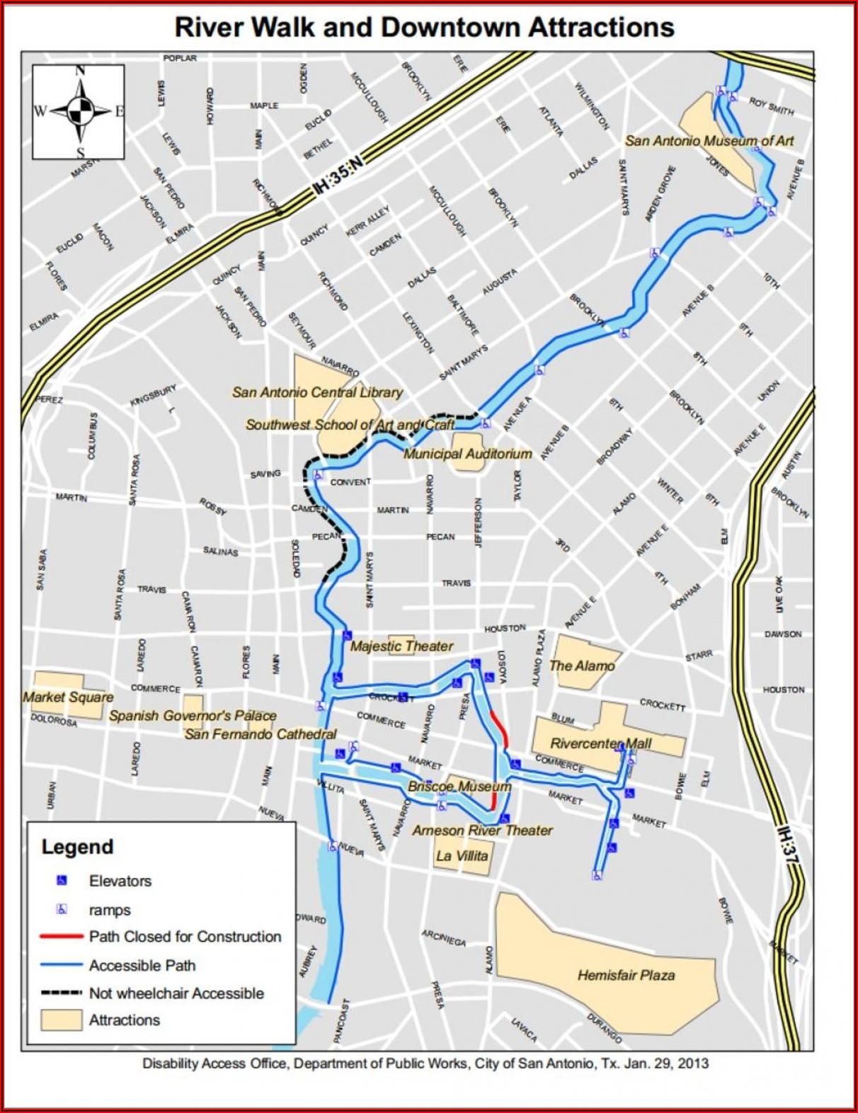 Hotels On Riverwalk San Antonio Tx Map