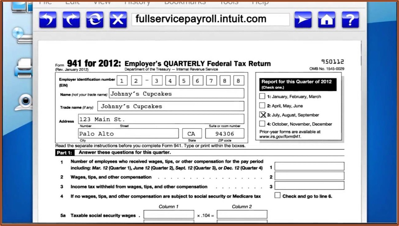 Intuit Full Service Payroll Forms