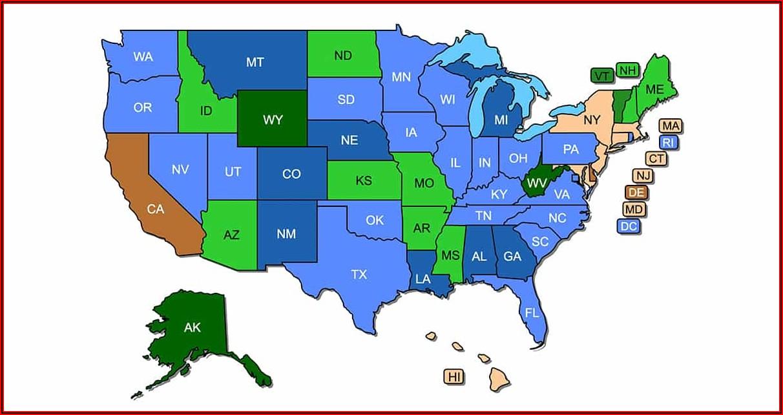 Iowa Permit To Carry States Map