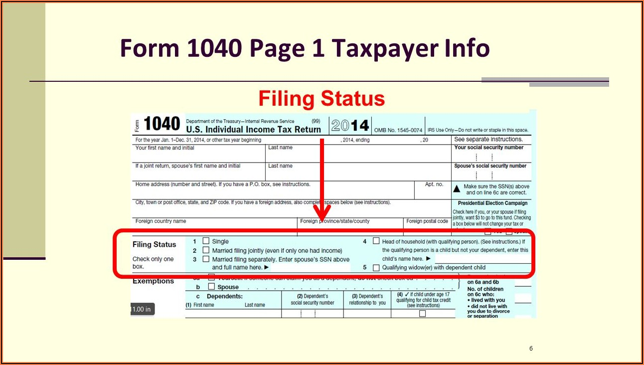 Irs 1040a Form 1040