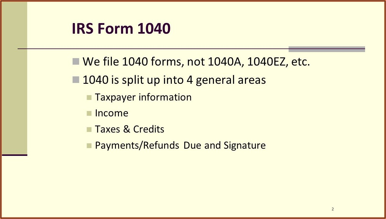 Irs 1040a Forms