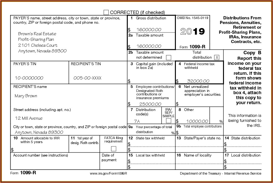 Irs.gov Form 1099 R