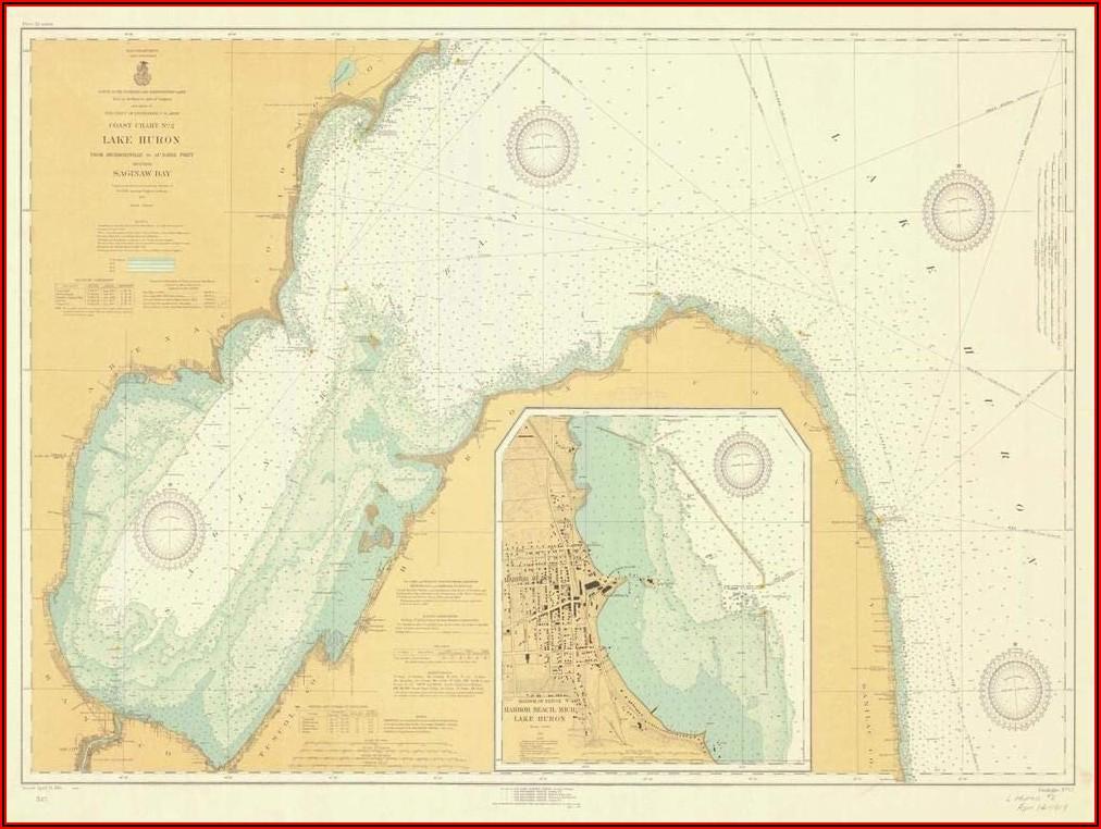 Lake Huron Nautical Map