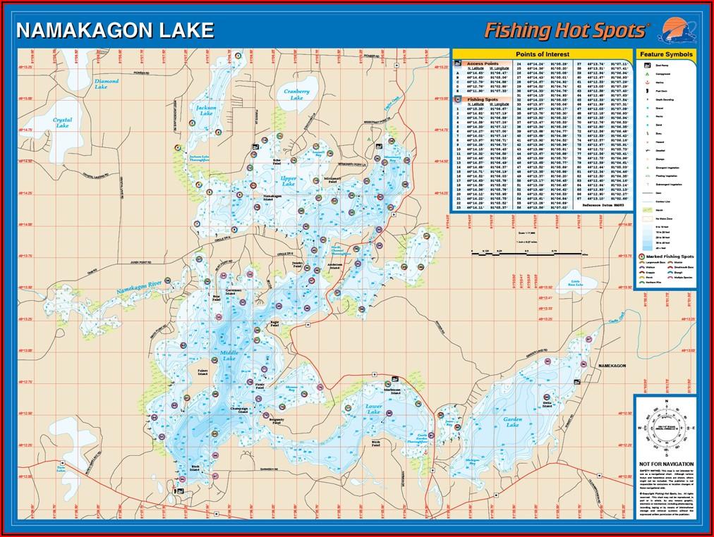 Lake Namakagon Fishing Map