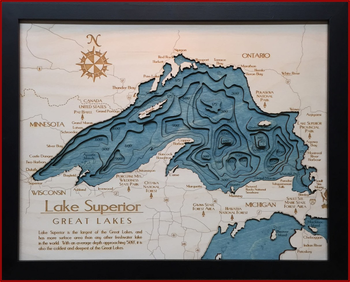 Lake Superior 3d Map