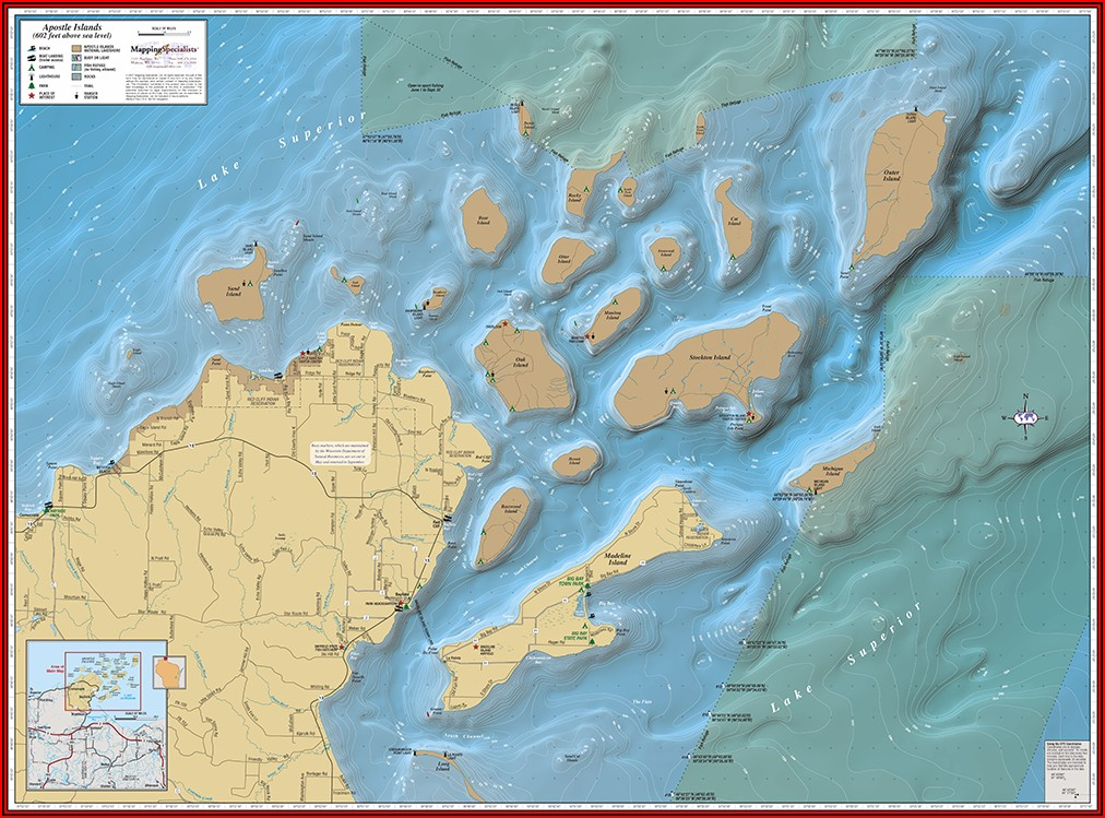Lake Superior Depth Chart Map
