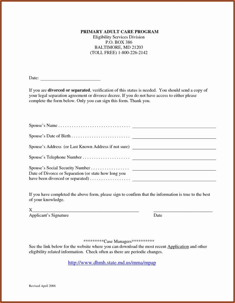 Legal Separation Agreement Forms