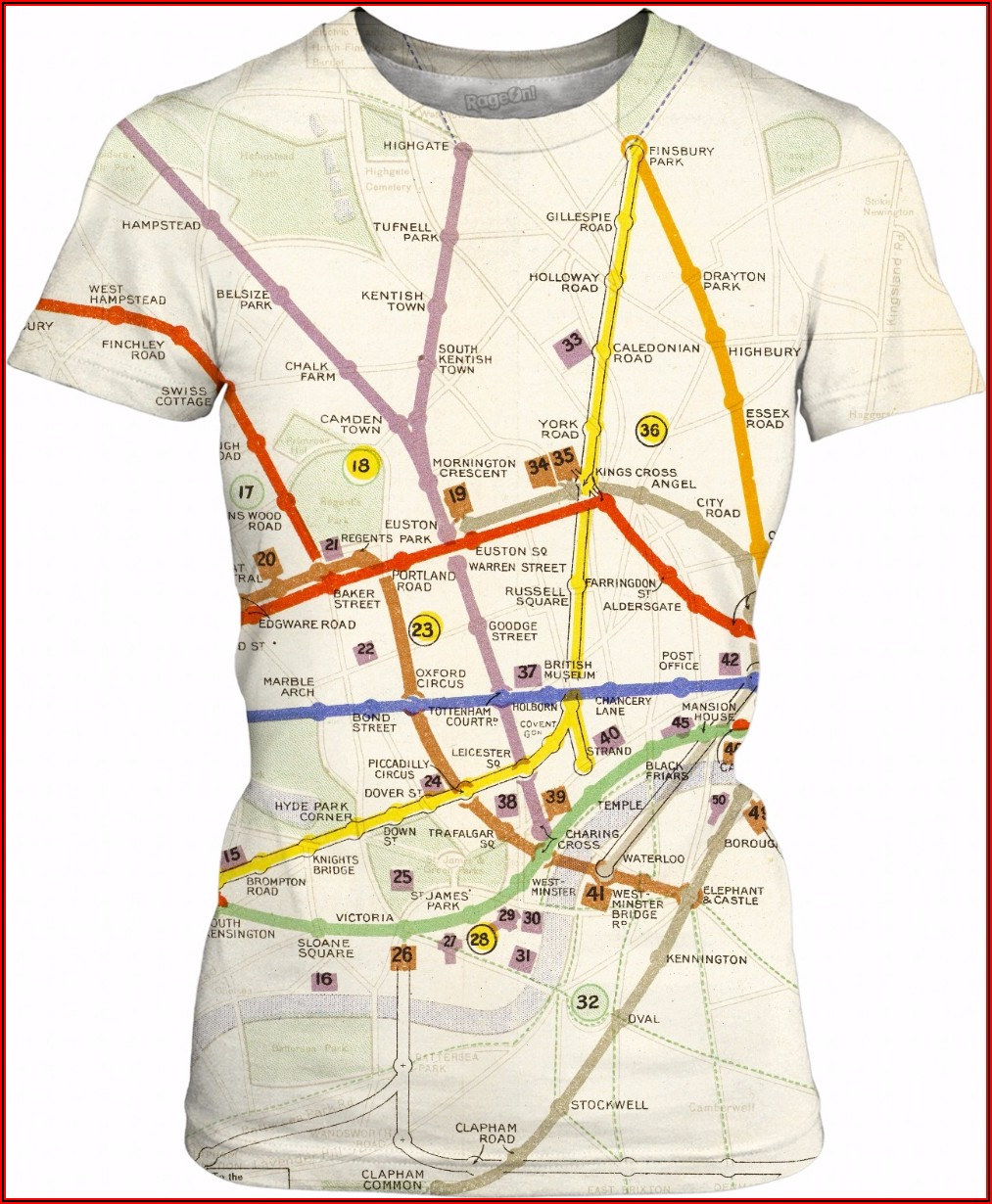 London Underground Map T Shirt