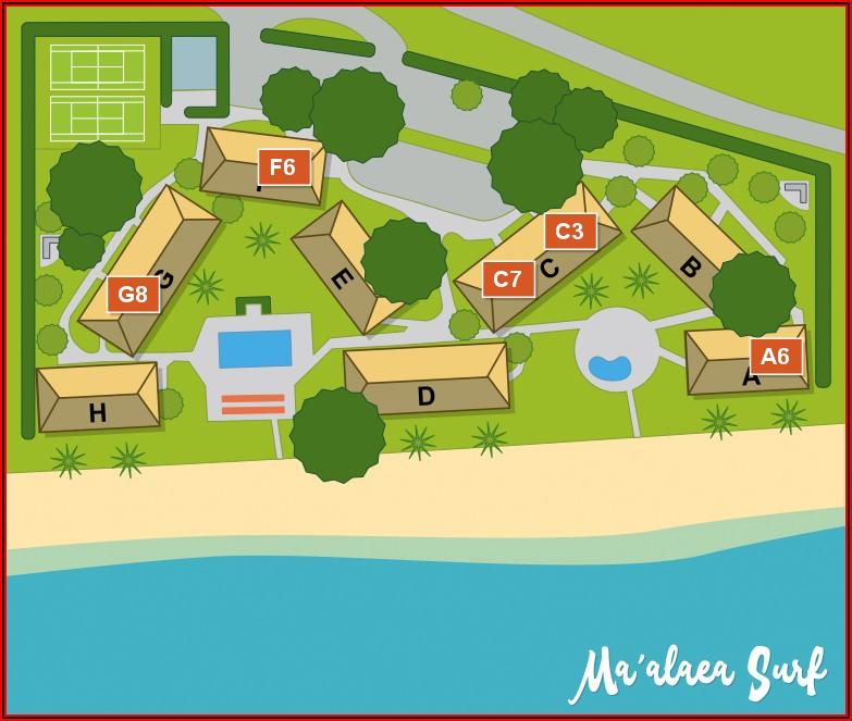 Maalaea Surf Resort Map
