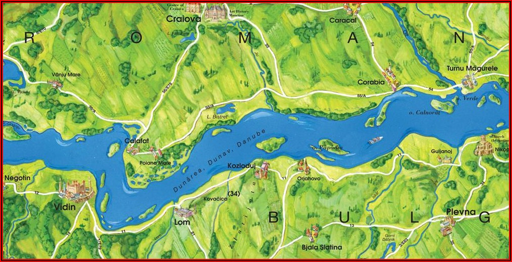 Map Of Danube River Cruise