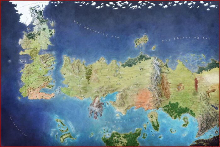 Map Of Game Of Thrones World Detailed