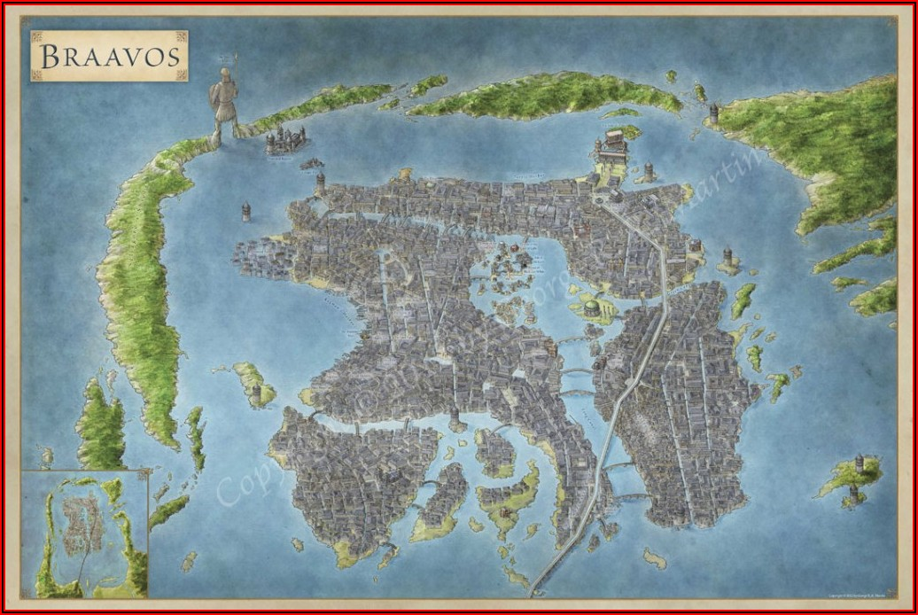 Map Of Game Of Thrones World With Cities