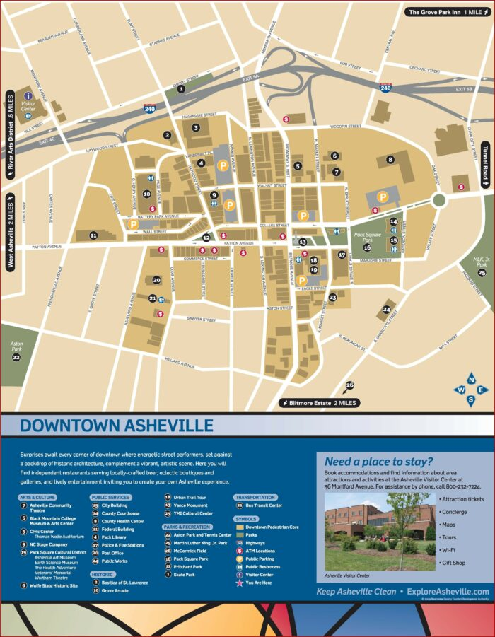 Map Of Hotels In Downtown Asheville Nc