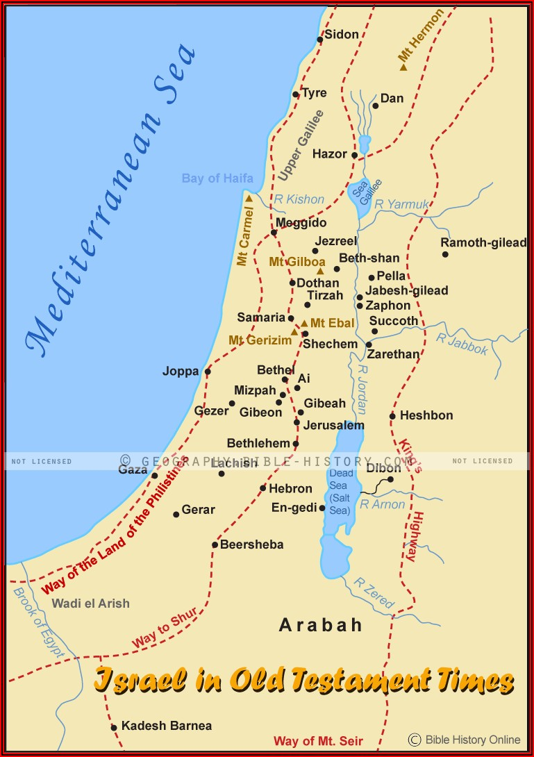 Map Of Israel In The Old Testament Time
