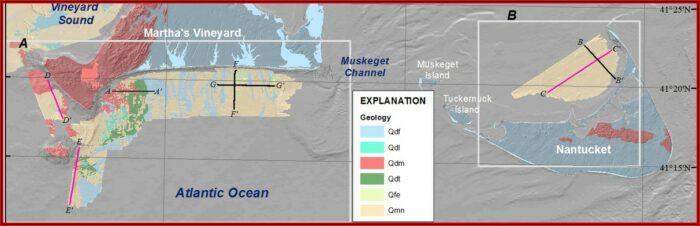 Map Of Nantucket Island And Martha's Vineyard