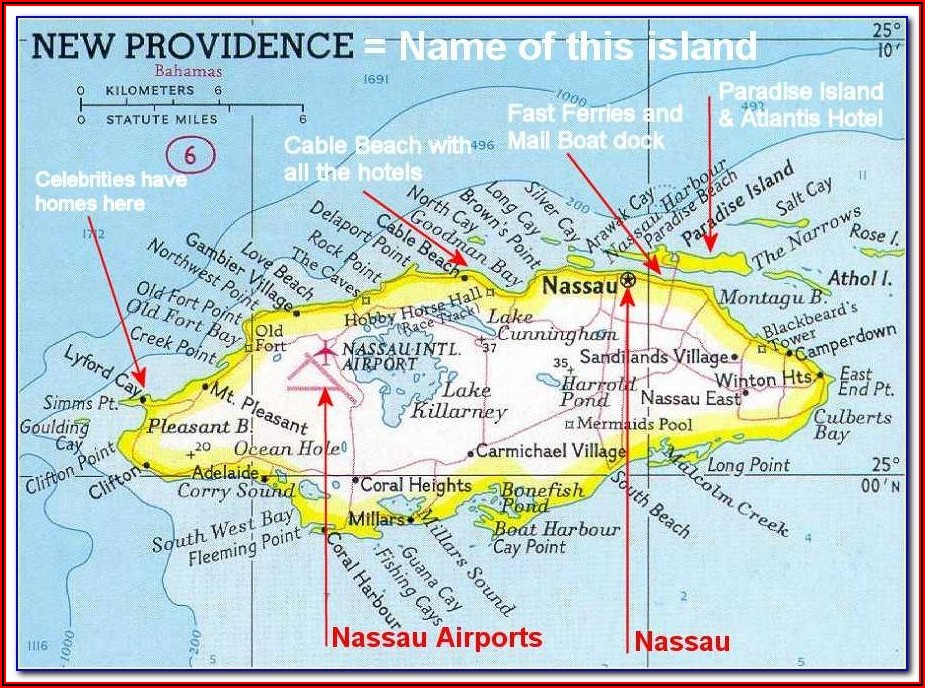 Map Of Nassau Bahamas Beaches