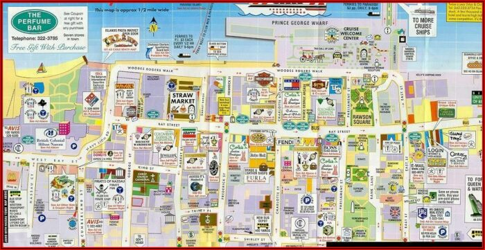 Map Of Nassau Bahamas Cruise Port